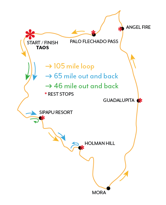 Gran Fondo Taos Course Map